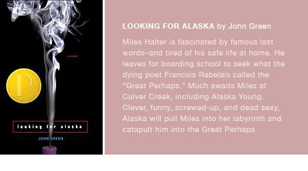 Recommended Read: Looking for Alaska